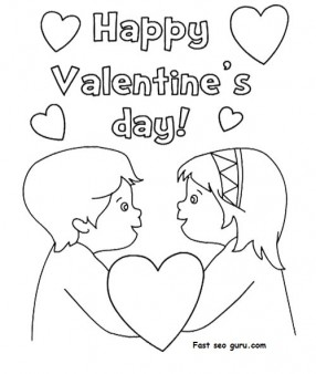 Happy valentines day hearts coloring pages Printable Coloring