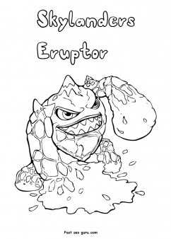Print out Skylanders Eruptor Coloring Pages