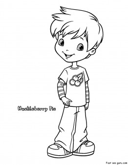 Printable Strawberry Shortcake Huckleberry Pie coloring pages