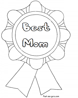 Printable Best Mom Mothers day
