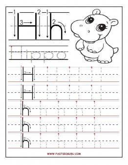 picture about Printable Letter H named Printable letter H tracing worksheets for preschool