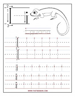Printable letter I tracing worksheets for preschool - Printable ...