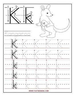 photograph about Letter K Printable referred to as Printable letter K tracing worksheets for preschool