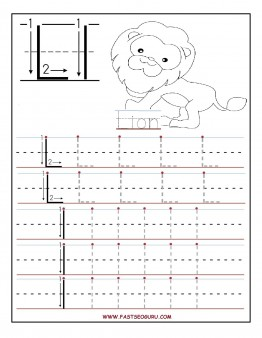 printable letter l tracing worksheets for preschool printable coloring pages for kids. Black Bedroom Furniture Sets. Home Design Ideas