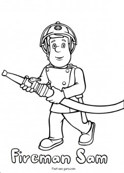 Printable fireman sam coloring pages  Printable Coloring Pages