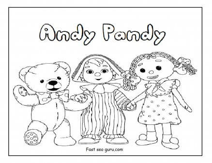 Printable andy pandy coloring pages for kids