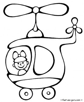 Printable helicopter kindergarten activities coloring pages