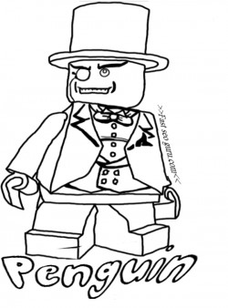 Printable Lego Batman Penguin Coloring Pages