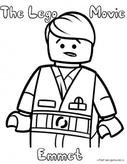 The Lego Movie Emmet Coloring Pages