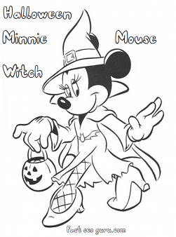 Disney halloween minnie mouse witch coloring pages