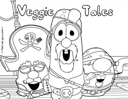 Printable veggie tales pirates