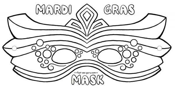 Free printable mardi gras mask coloring pages crafts for kids