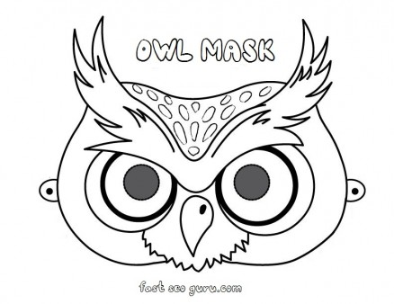 printable owl mask preschool craft coloring pages - Printable Owl Pictures