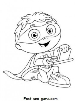 Printable Cartoon SUPER WHY Coloring Pages for kids