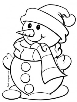 Christmas Coloring Activities For Kindergarten : Printable christmas snowman coloring pages for preschool Printable Coloring Pages For Kids