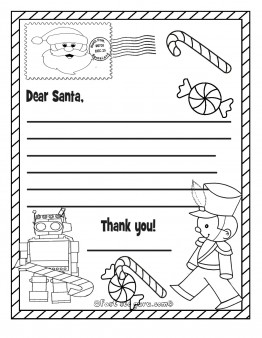 Printable christmas wish list toys to santa claus