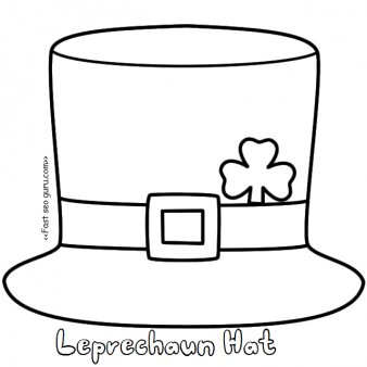 Printable leprechaun hat coloring