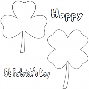 Printable Three Leaf Clover coloring pages
