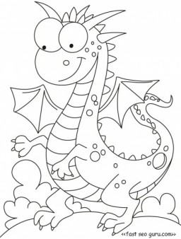 Printable dragon tales cartoon network coloring pages