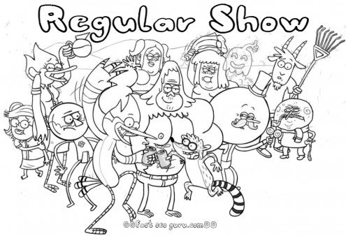 Printable cartoon network regular show coloring pages - Printable ...