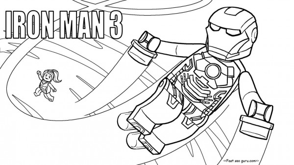 printable lego movies 2 iron man coloring pages