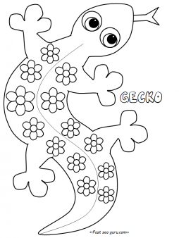 Gecko coloring pages printable for kids