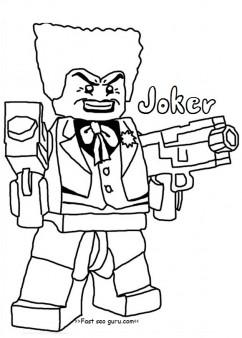 Printable lego batman joker coloring pages for boy