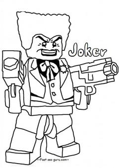 Printable Lego Batman Joker Coloring Pages For Boy