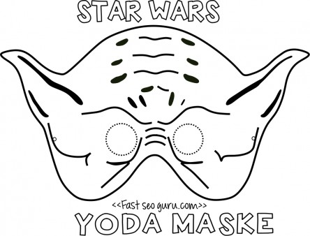 photograph relating to Yoda Printable titled Printable yoda mask template for youngsters - Printable Coloring