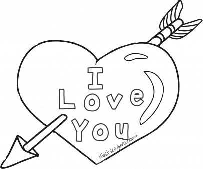 Printable valentines day hearts and arrow coloring pages ...