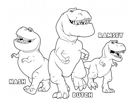 Printable the good dinosaur Butch Ramsey Nash coloring pages