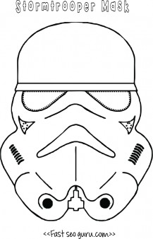 Star Wars Stormtrooper Mask Printable For Kids  Mask Templates For Adults
