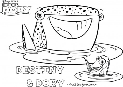 Printables cartoon finding dory destiny coloring page
