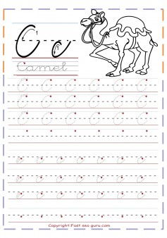 Printable Cursive Tracing Handwriting Practice Worksheets