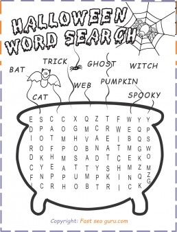 print out halloween wordsearch for kid