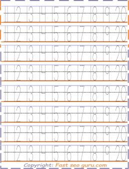 Number Tracing 12 20 Worksheets For Kids Printable