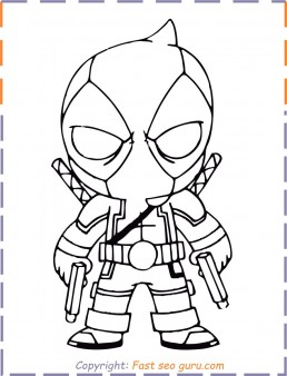 Deadpool coloring pages to print out