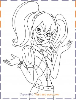 Harley Quinn Coloring Pages To Print Out Free Printable