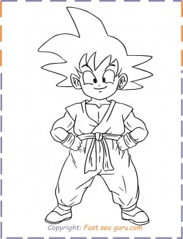 goku coloring pages printable