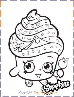 Fancy Dress Shopkin Coloring Page - Get Coloring Pages | 338x258