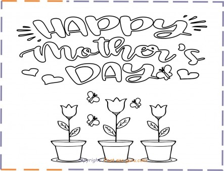 coloring pages happy mothers day for kids print out
