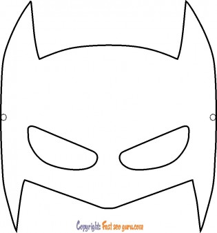 Batman mask coloring pages to print