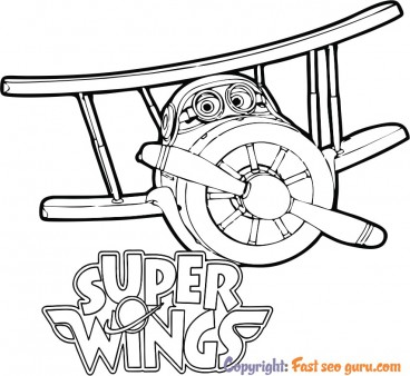 coloring pages super wings grand albert
