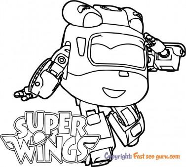 Coloring sheet super wings dizzy