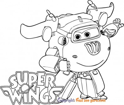 kids coloring pages Super Wings Donnie to print