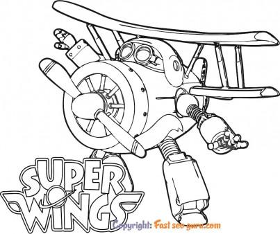 Super wings grand albert cartoon coloring in sheets