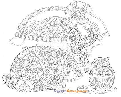 coloring pages easter bunny eggs adults