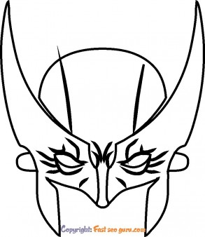 marvel wolverine mask coloring pages