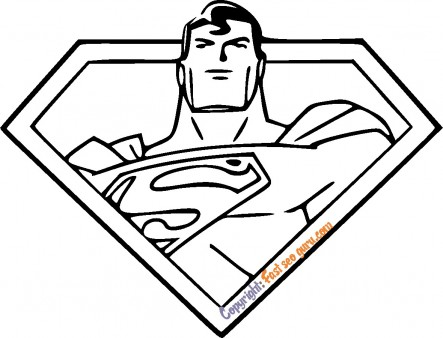 superman picture to color for kids