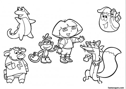 Free Printable Coloring Pages Dora The Explorer